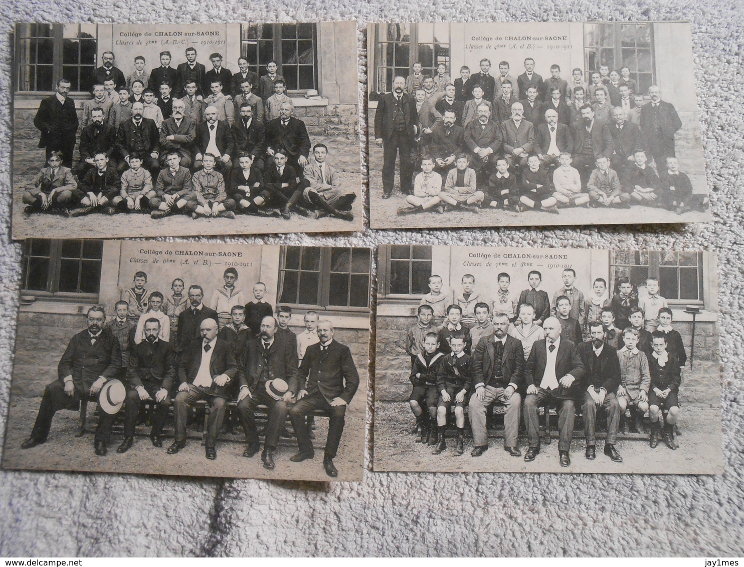 14 Cpa Chalon Sur Saone College 5 Carte 1908/ 09  8 Carte 1910/ 11 - Chalon Sur Saone