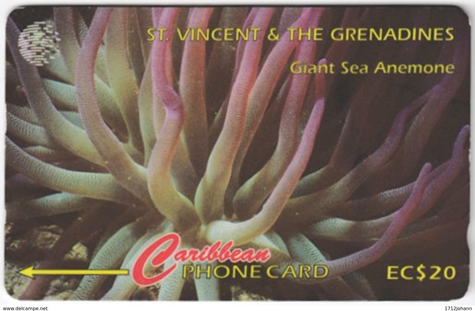 ST. VINCENT & GRENADINES A-065 Magnetic Cable & Wireless - Animal, Sea Life, Anemone - 101CSVB - Used - San Vicente Y Las Granadinas