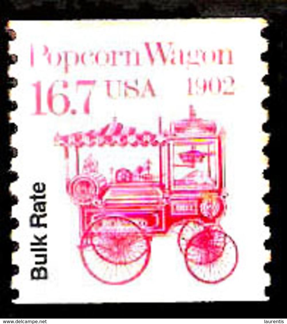 7676  Popcorn Wagon - USA - Free Shipping - 1,50 - Alimentation