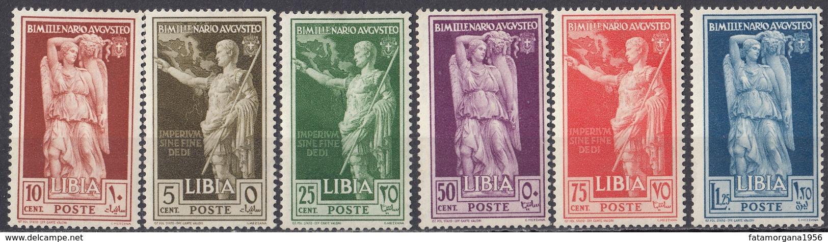 LIBIA - 1938 - Serie Completa Nuova MH: Yvert 68/73, 6 Valori. - Libia