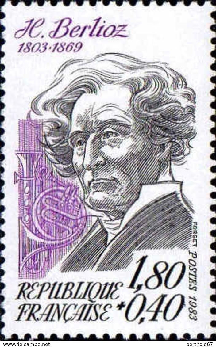 France Poste N** Yv:2281 Mi 2380 Yv:1,2 Euro Hector Berlioz Compositeur - Frankreich