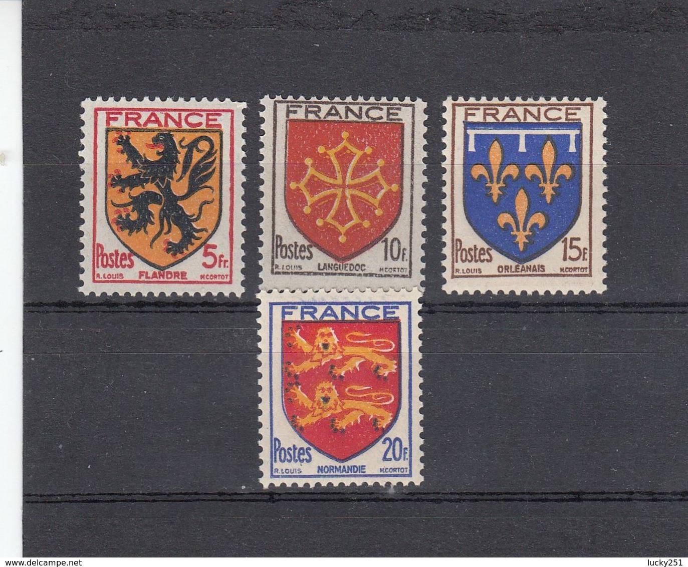 France - 1944 - N° YT 602/05** - Armoiries De Provinces - Francia