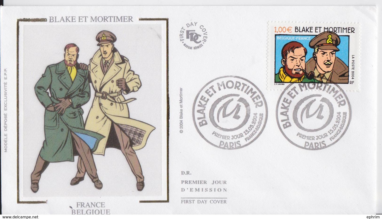 Blake Et Mortimer Enveloppe Premier Jour FDC 2004 - Bandes Dessinées