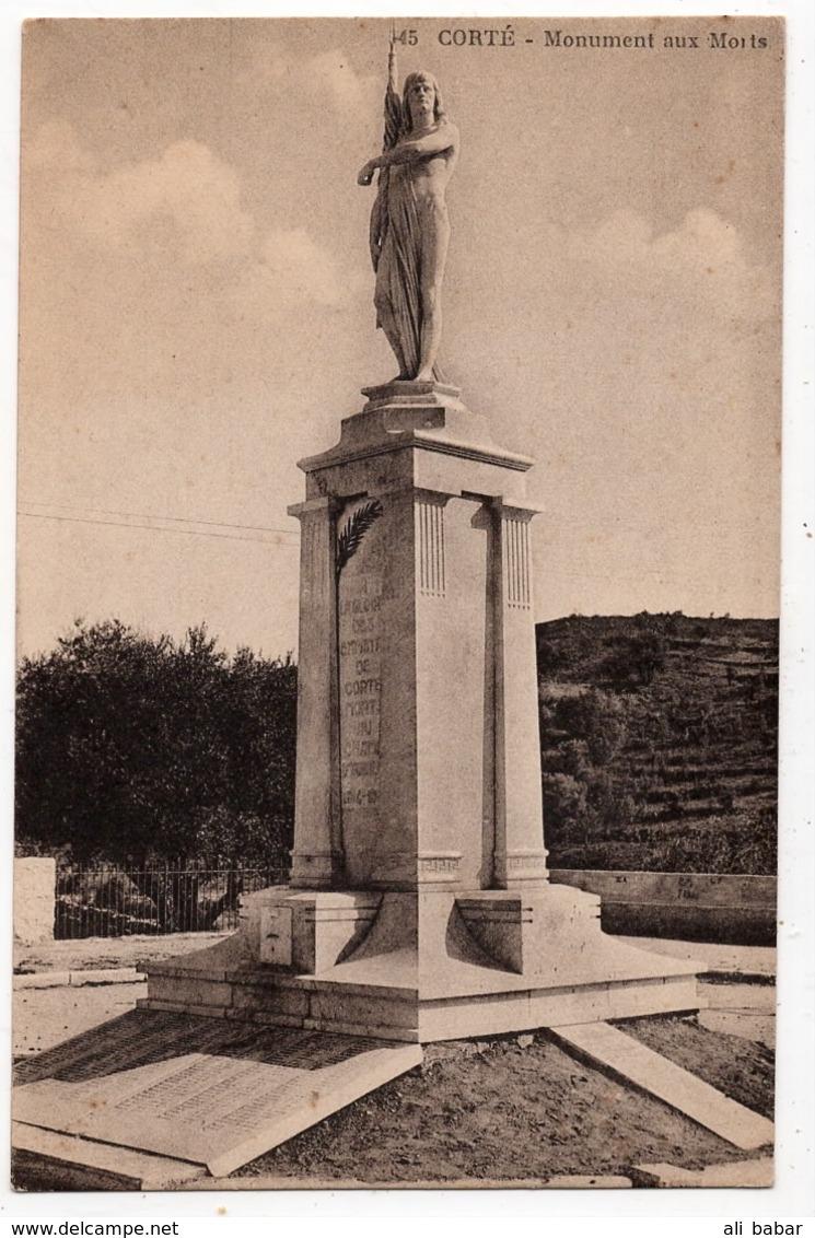 Corte : Monument Aux Morts (Cie Alsacienne Des Arts Photomécaniques, Strasbourg, N°45) - Corte