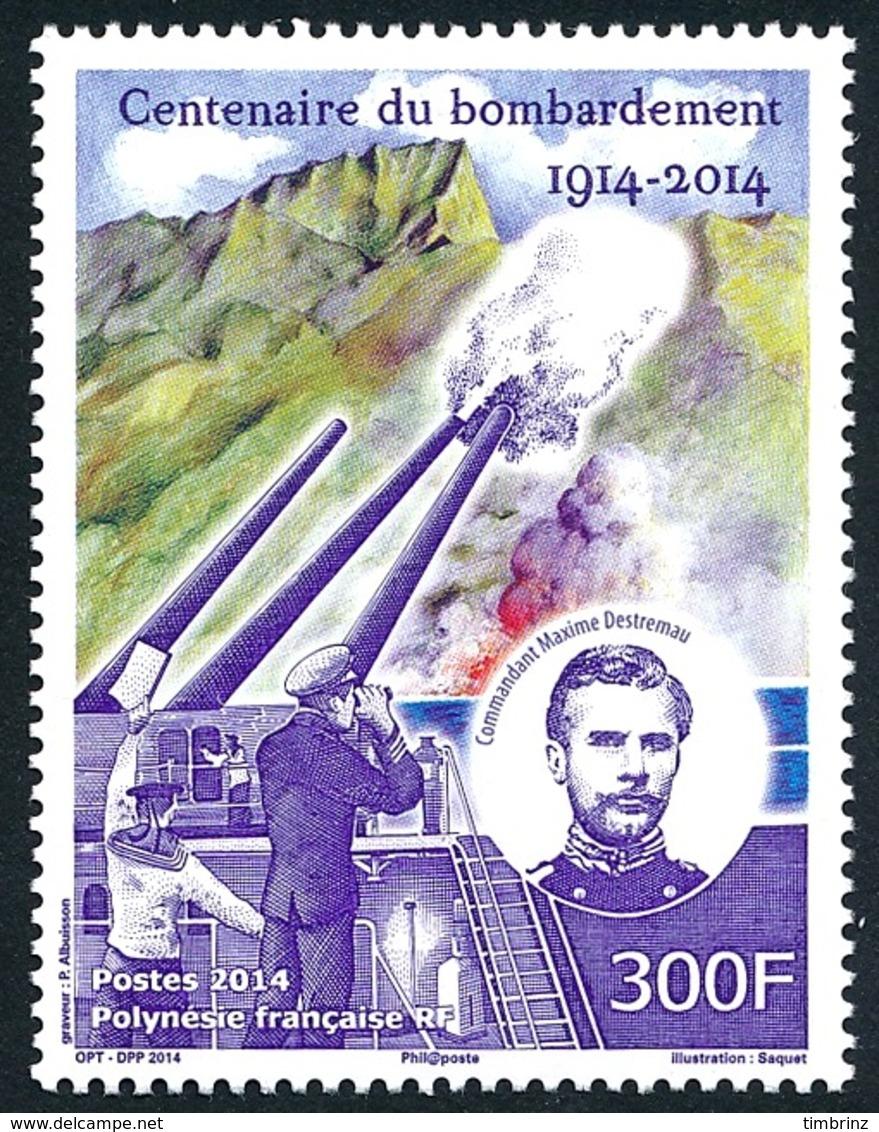 POLYNESIE 2014 - Yv. 1072 **  - 1ère Guerre Mondiale. Bombardement  ..Réf.POL24973 - Neufs