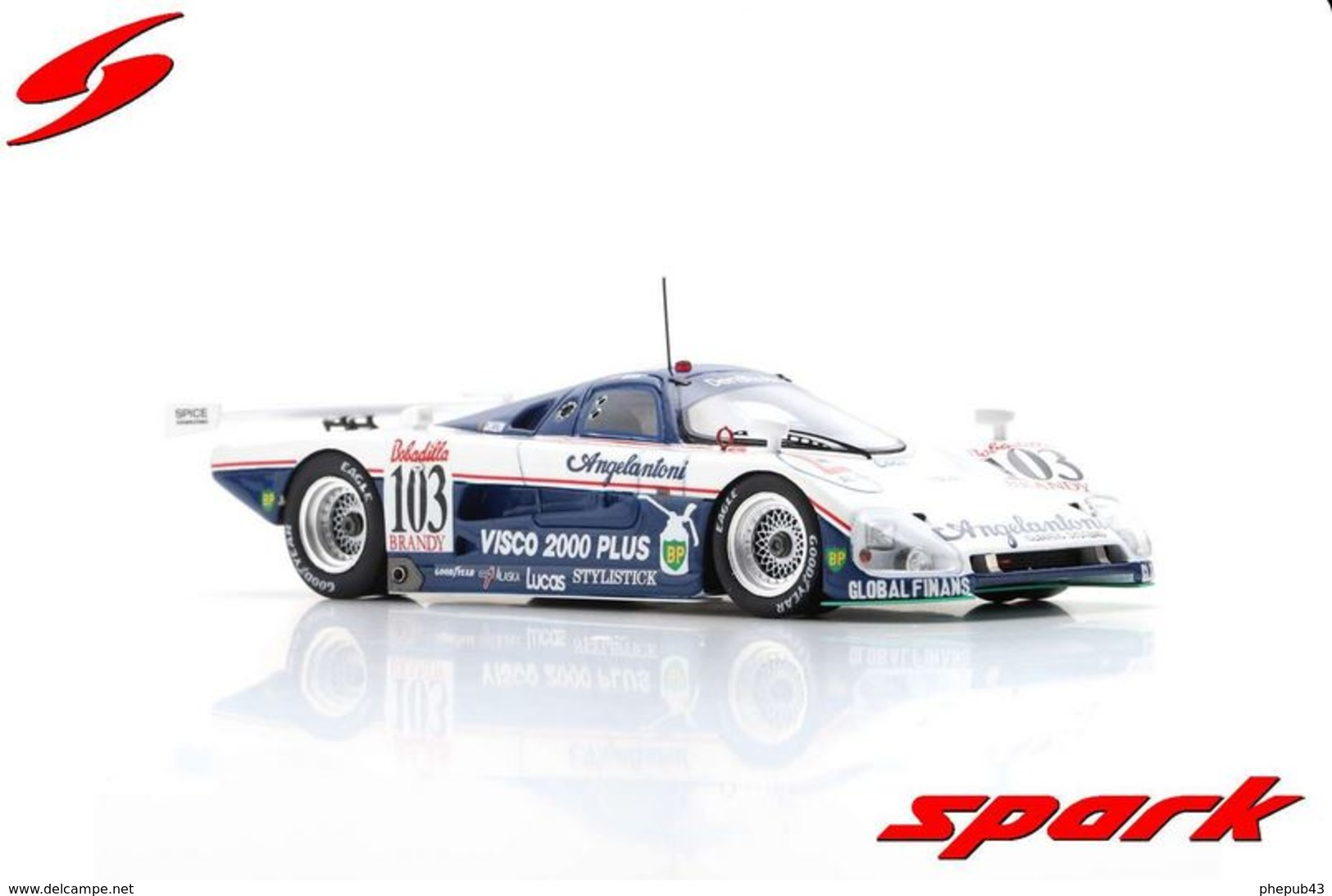 Spice SE 88 C - A. Coppelli/T. Thyrring/E. Salazar - 24H Le Mans 1988 #103 - Spark - Spark