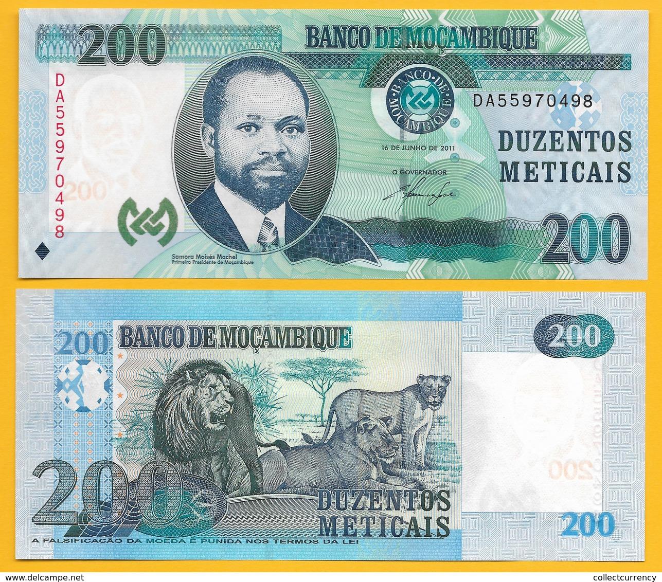 Mozambique 200 Meticais P-152a 2011 UNC Banknote - Mozambique