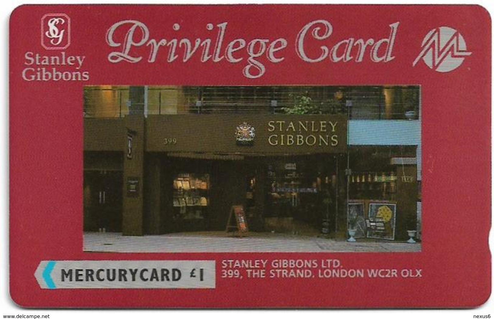 UK (Mercury) - Stanley Gibbons Privilege Card - 20MERB (On Silver Stripe) - MER209 - 7.202ex, Used - Reino Unido