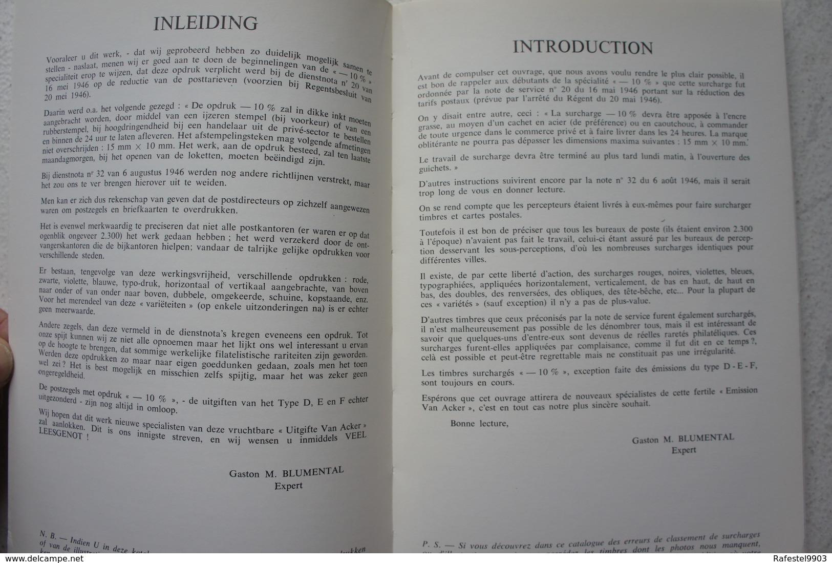 Livre Catalogue National Spécialié Valeur -10% Timbre Zegel Belgique Belgïe - België