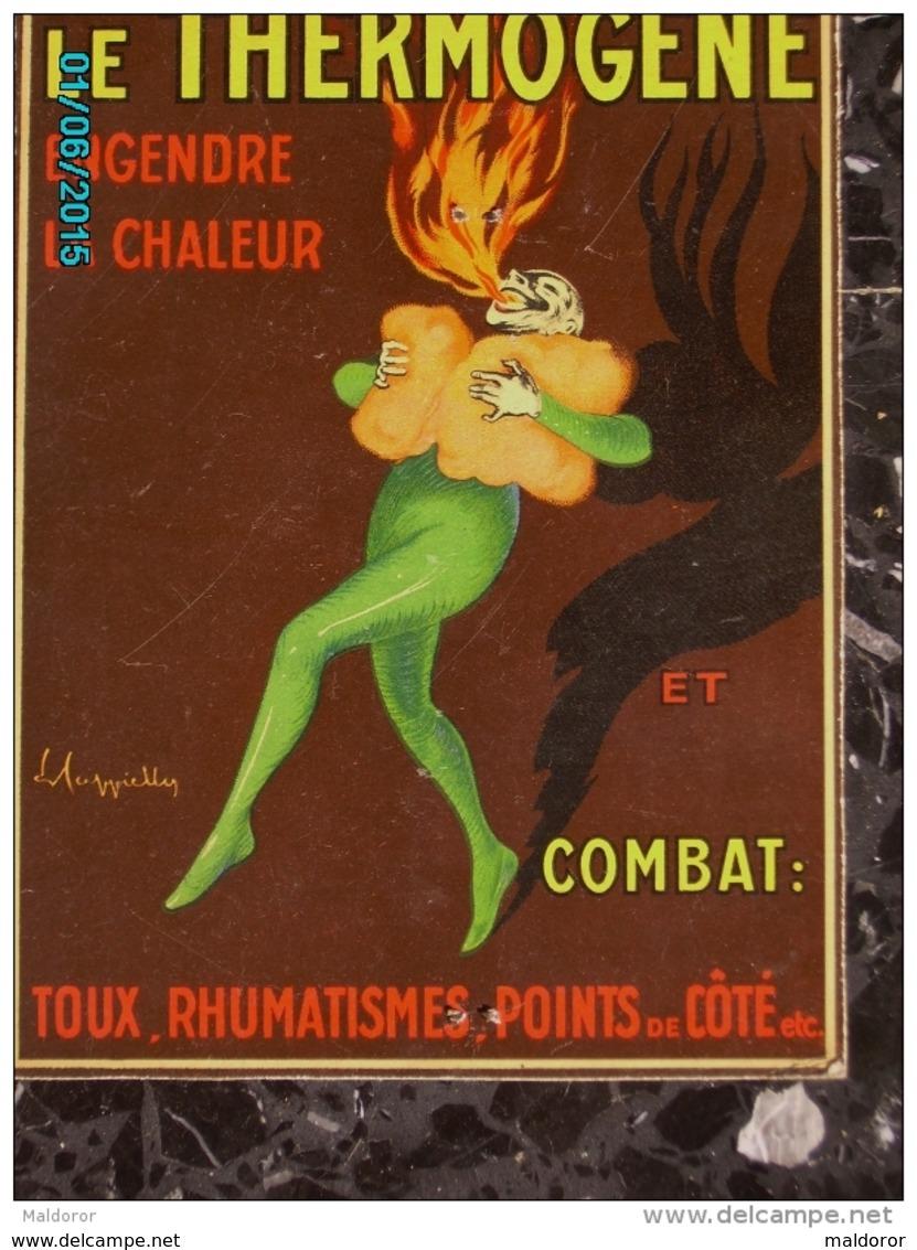 POC1   043   Signé CAPPIELLO    THERMOGENE  SANTE PHARMACIE Carton De  24 X 17  Parfait  état ..vers 1910 - Placas De Cartón