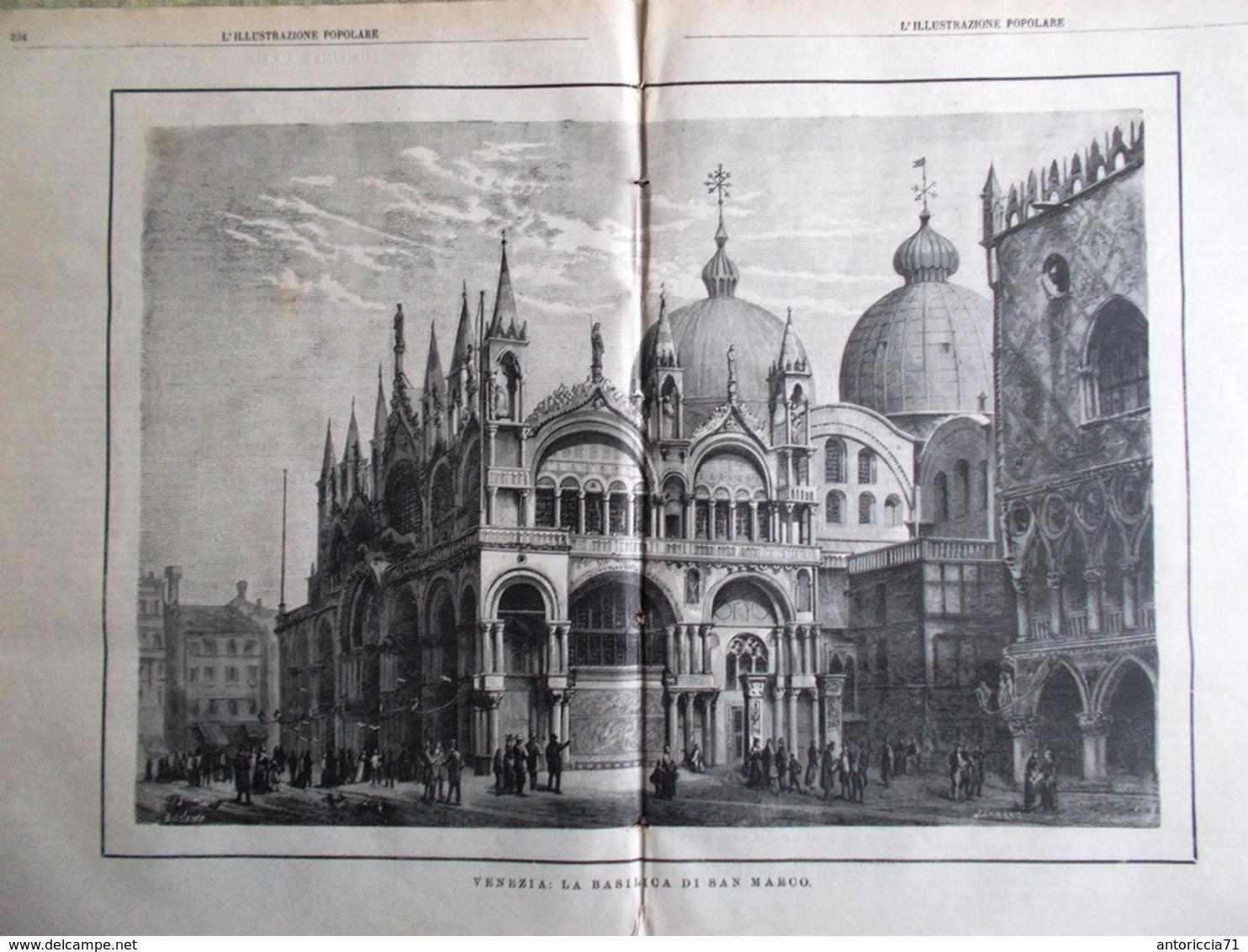 L'illustrazione Popolare 26 Aprile 1885 Basilica San Marco Tomba Beethoven Rosa - Ante 1900