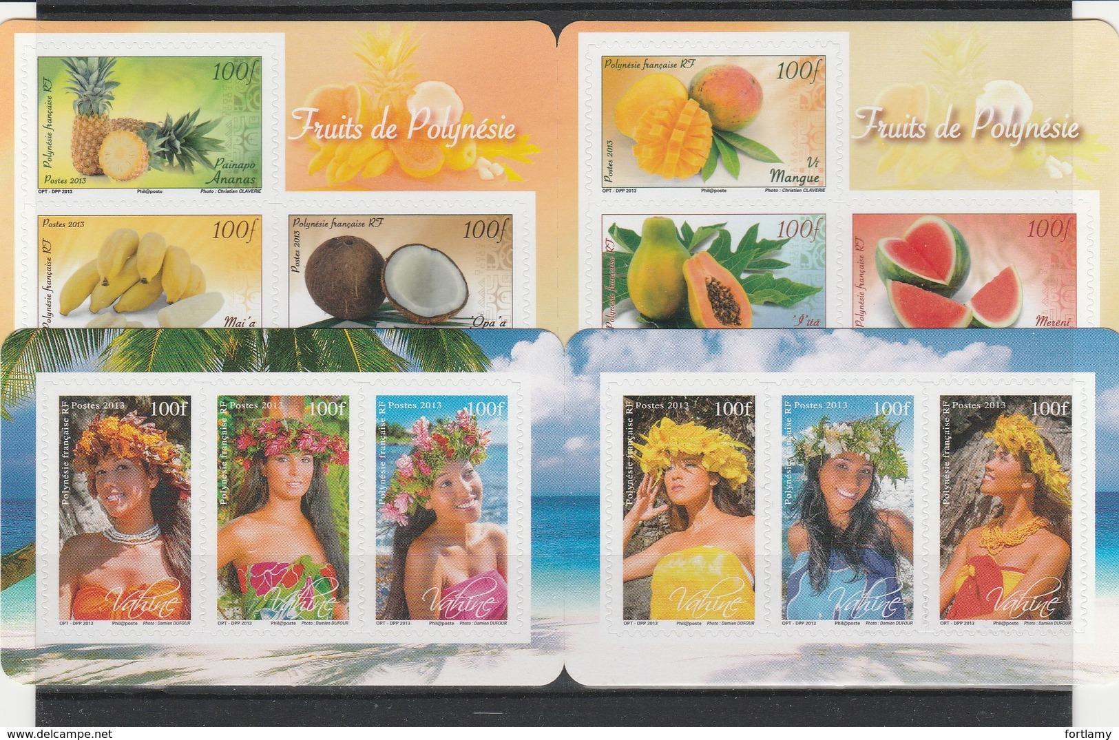 LOT 2022 POLYNESIE N°1023 à 1028 - 1035 à 1040 -1120 à 1125 ** FACIALE - Polynésie Française