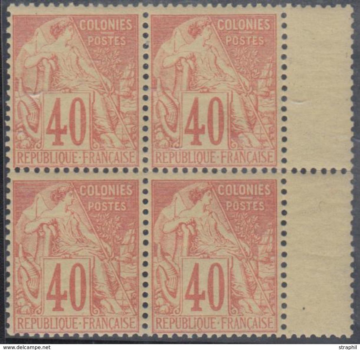 ** EMISSIONS GENERALES - ** - N°57, Bloc De 4, Bord De Panneau - TF/TB - Eagle And Crown
