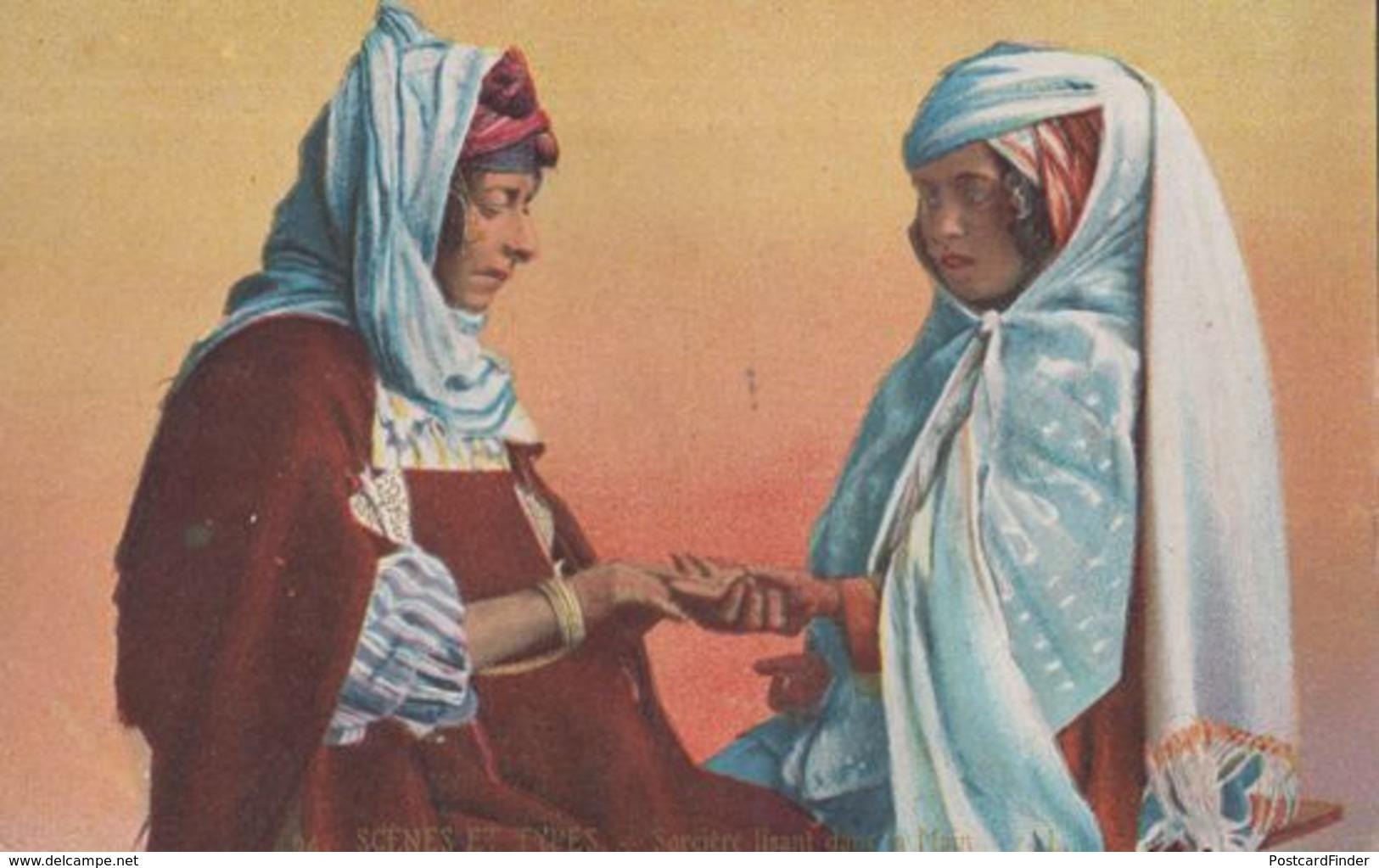 Sorciere Egyptian Gipsy Sorceress Old Occult Fortune Teller Palm Reader Postcard - Egypte