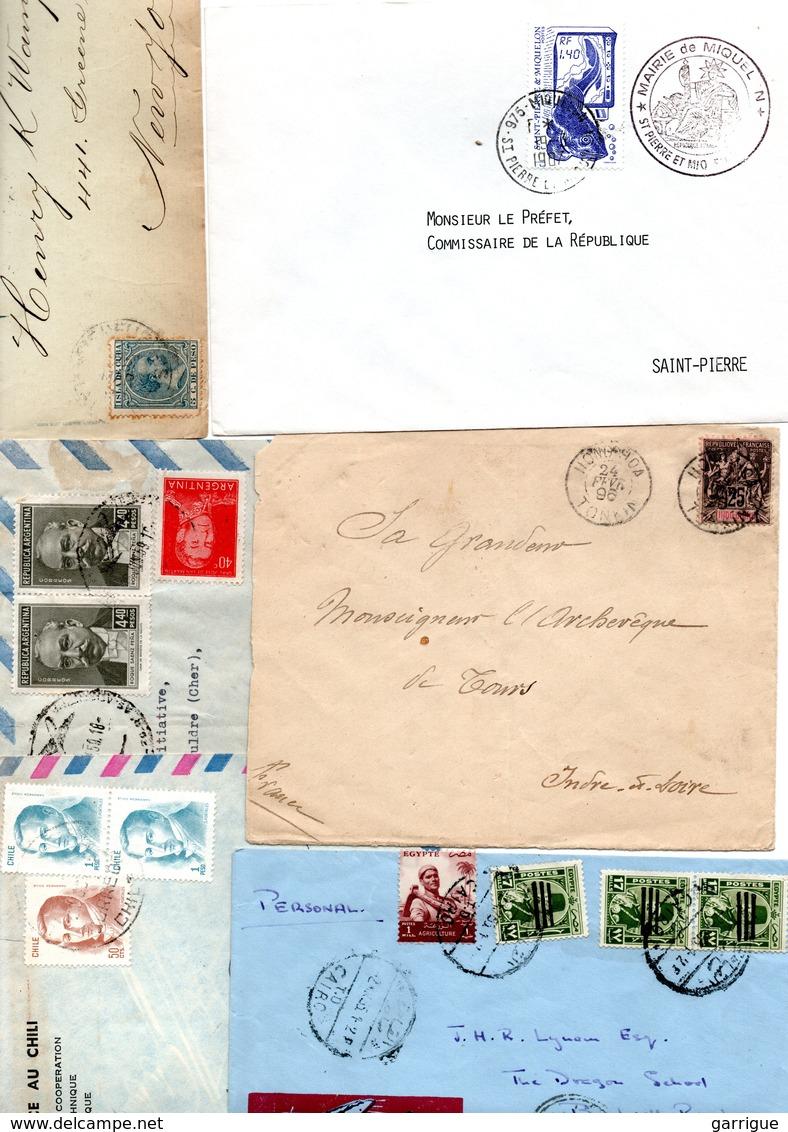 Accumulation De Près De 1300 Lettres Du Monde Sauf France - Timbres