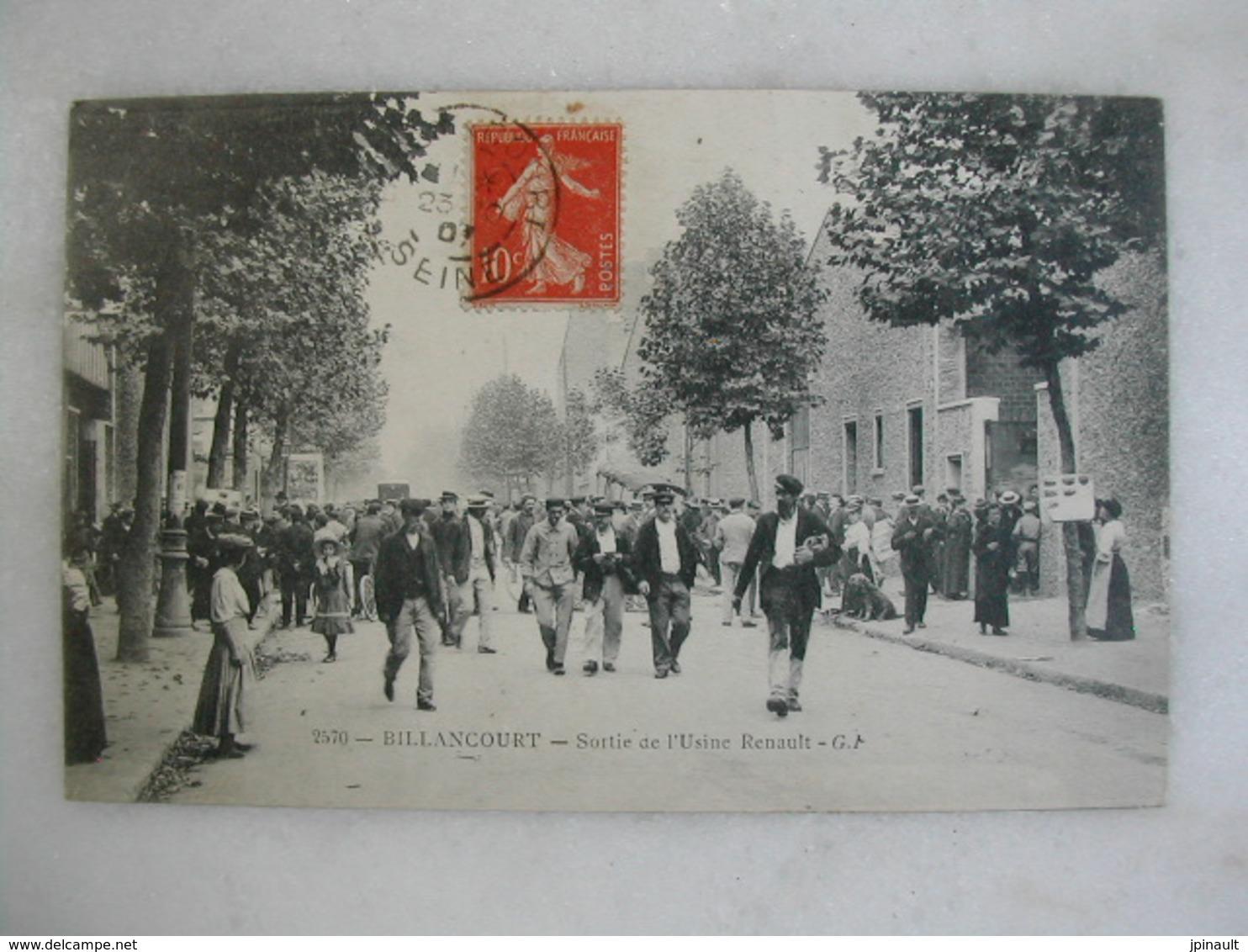 BILLANCOURT - Sortie De L'usine Renault (très Animée) - Boulogne Billancourt