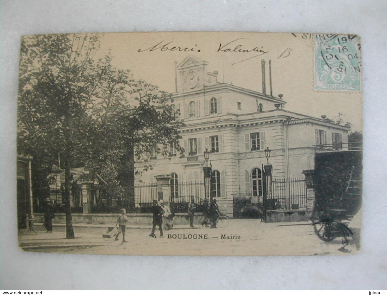 BOULOGNE - Mairie (animée) - Boulogne Billancourt