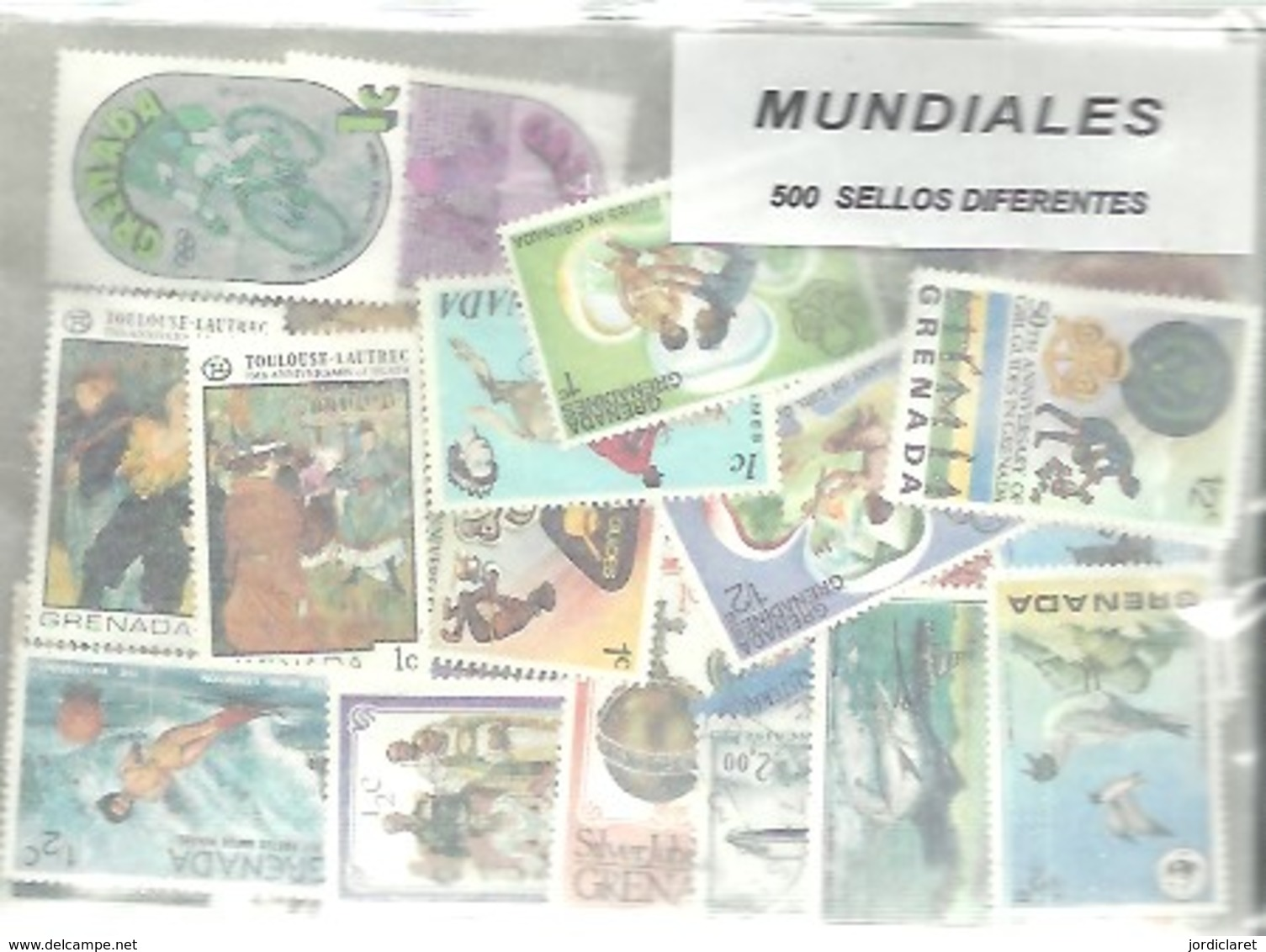 STOCK 500 STAMPS DIFERENTS - Sellos