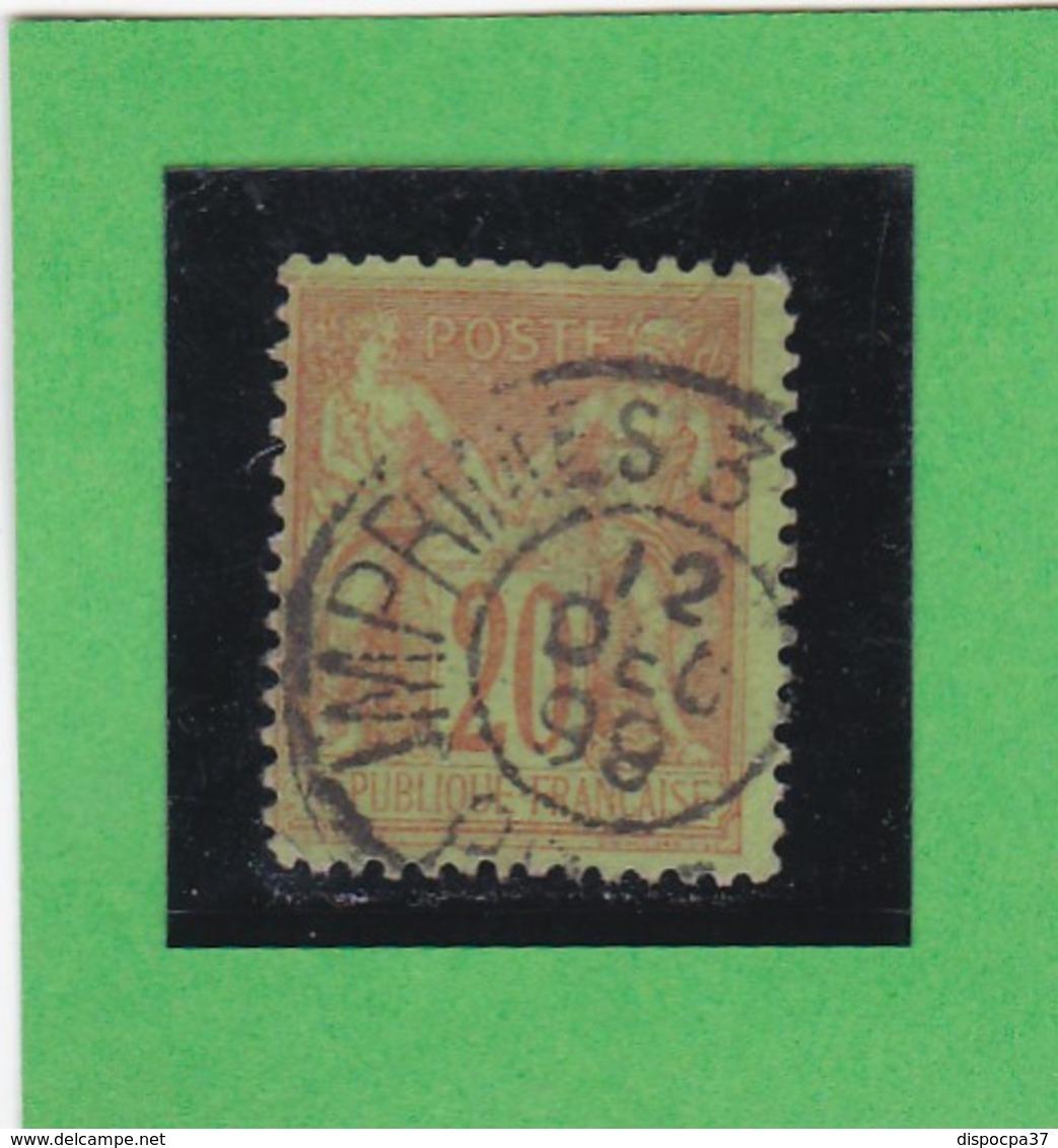 SAGE N° 96   - CACHET A DATE   IMPRIMES -  12 DEC. 1898 -  1602 - Centré - 1876-1898 Sage (Type II)