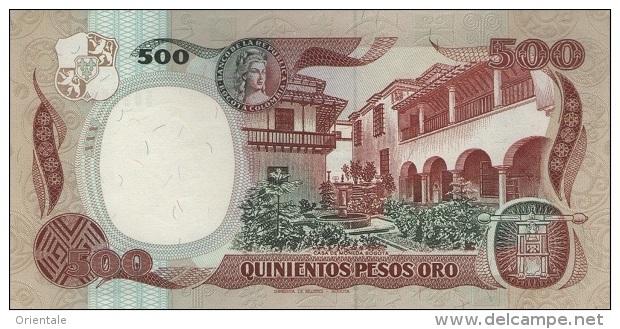 COLOMBIA P. 431 500 P 1989 UNC - Colombia