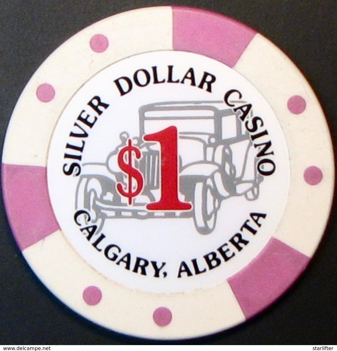 $1 Casino Chip. Silver Dollar, Alberta, Canada. S16. - Casino