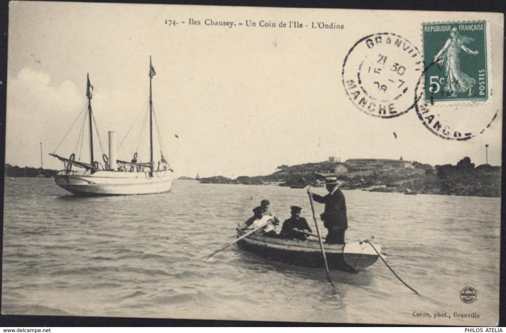 CPA Iles Chausey Un Coin De L'île L'Ondine 174 Coron Phot Granville - France