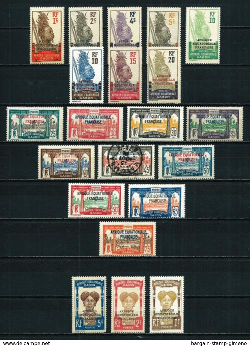 Gabón (Francés) Nº 88/107 Nuevo* Cat.30€ - Gabon (1886-1936)