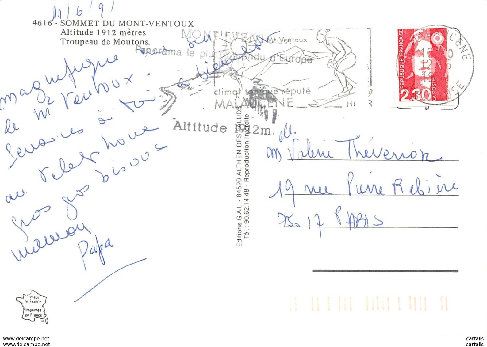 84-MONT VENTOUX-N°3695-A/0125 - Autres Communes