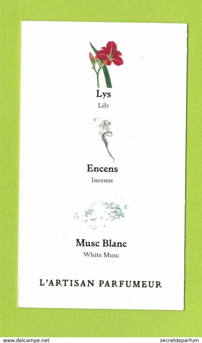 Cartes Parfumées Carte PASSAGE  D'ENFER  De L'ARTISAN PARFUMEUR   Recto Verso - Cartes Parfumées