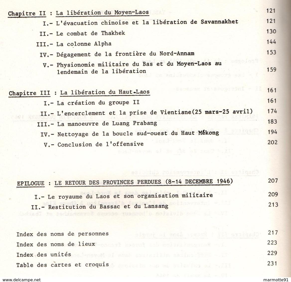 LA LIBERATION DU LAOS 1945 1946  PAR GENERAL BOUCHER DE CREVECOEUR  GUERRE INDOCHINE FORCE 136 - Bücher