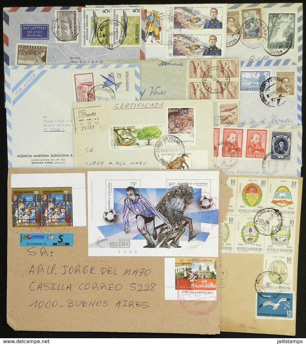 ARGENTINA: Over 90 Covers Of Varied Periods, There Are Very Nice Postages And Some Nice Combinations Of Stamps Of The Is - Argentina