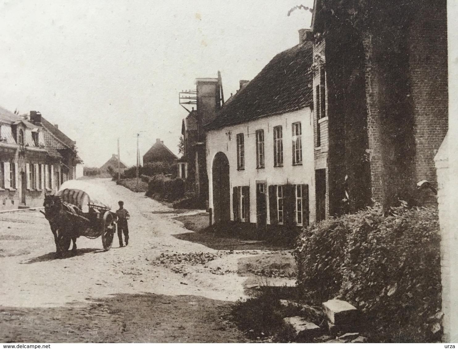 """ERWETEGEM-----cpa--""""vue Du Village""""-animée - Zottegem"""