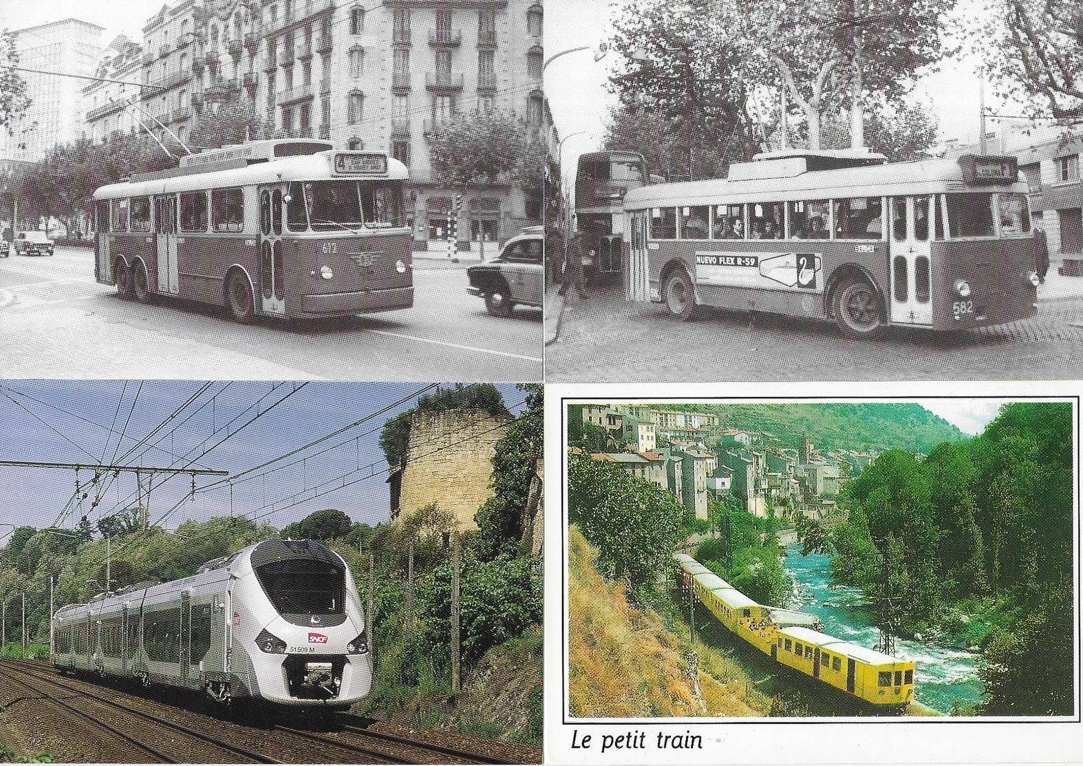 Trains, Tramways...Lot De 16 CPM - Ansichtskarten