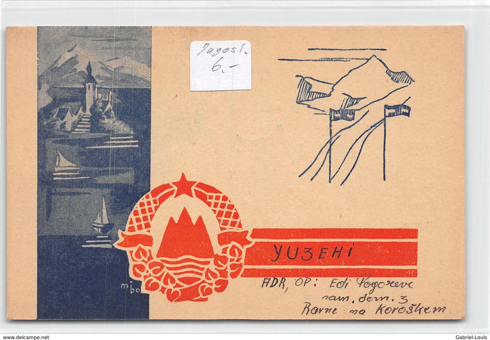 QSL Cards - YU3EHI To YU3CW Yugoslav Amateur Station - Yugoslavia - Slovenije - Sloveija - Radio Amatoriale