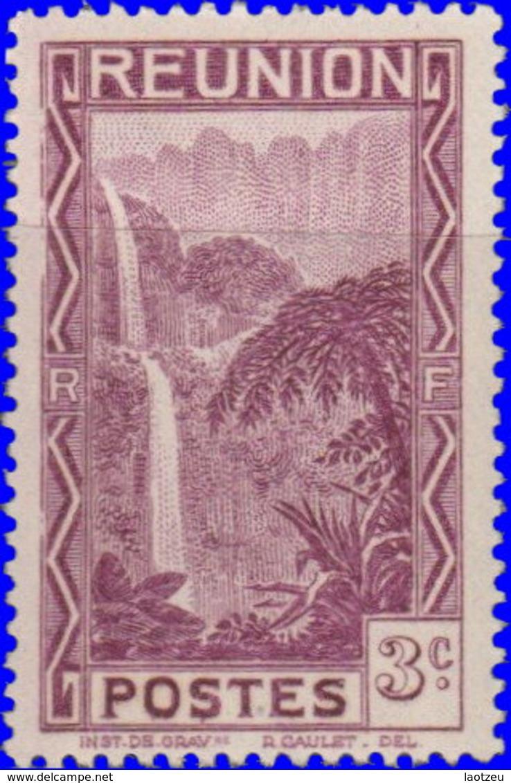 Réunion 1939. ~  YT 163* - 3 C. Cascade De Salazie - Réunion (1852-1975)