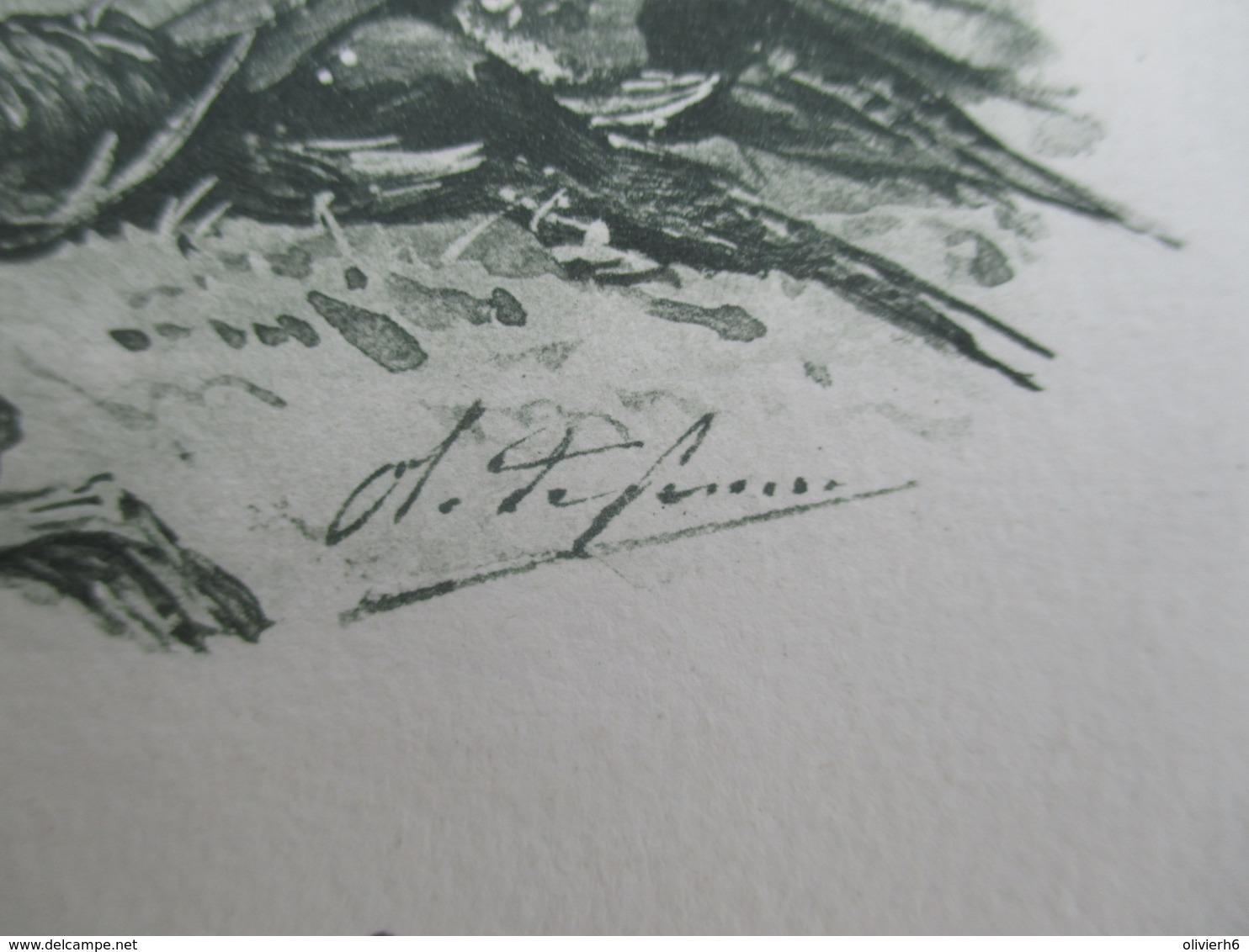 VP MENU (V1906) DéJEUNER Du 05 Décembre 1897 (5 Vues) CONSEILLER D'éTAT LOUIS LEGRAND Illustration De Chasse - Menus