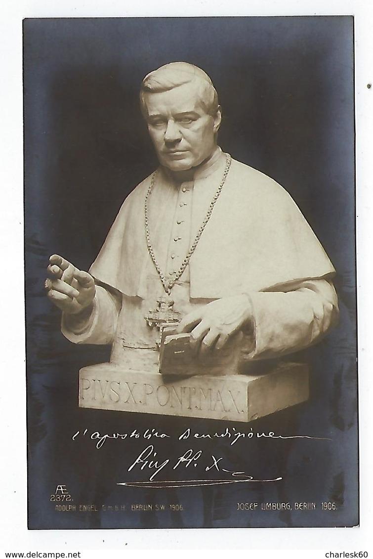 CPA -  Carte Photo - Pape - Pius X - Pie X - Buste Pie X - Popes