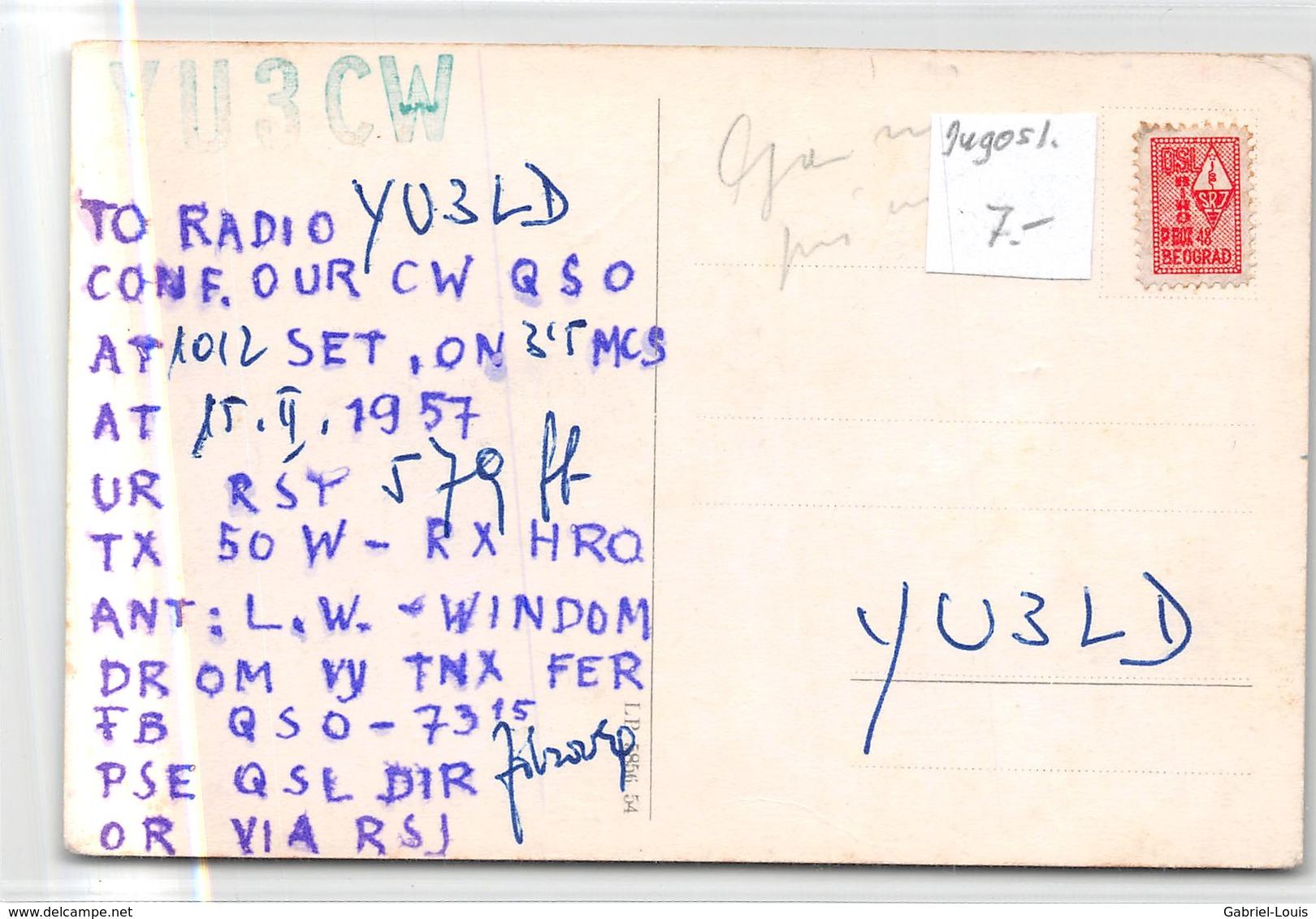 QSL Cards - YU3CW - YU 3 CW - Yugoslavia - Prevalje - Slovenija  - 1957 - Radio Amatoriale