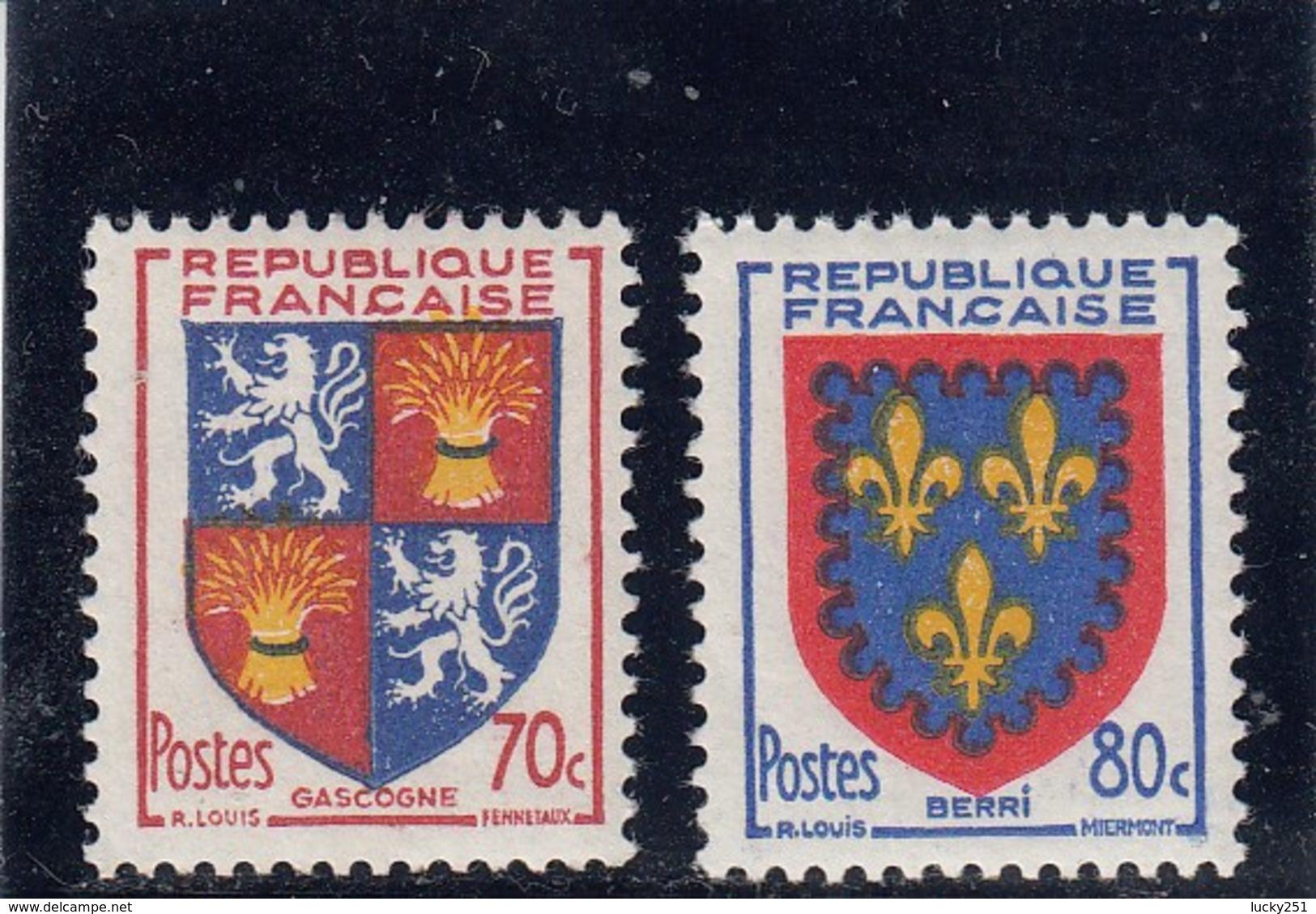 France - 1953 - N° YT 958/59** - Armoiries De Provinces - Francia