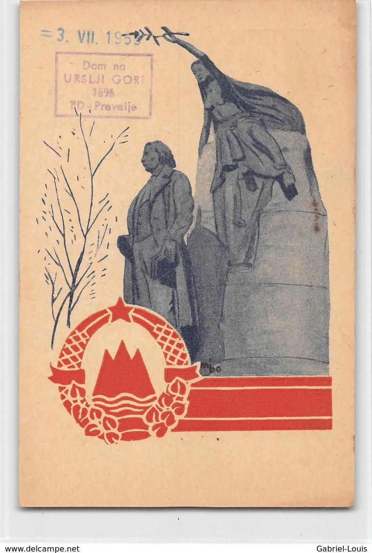 QSL Cards - YU3CW- YU 3 CW - Yugoslavia  - Izdala Zveza Radioamaterjev Slovenije - - Radio Amateur