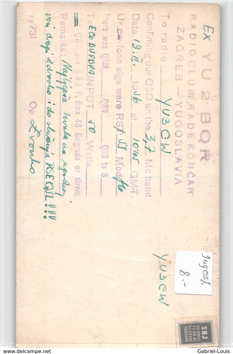 QSL Cards - YU2I.- YU 2 I - Yugoslavia  - Zagreb - Croatia - - Radio Amateur