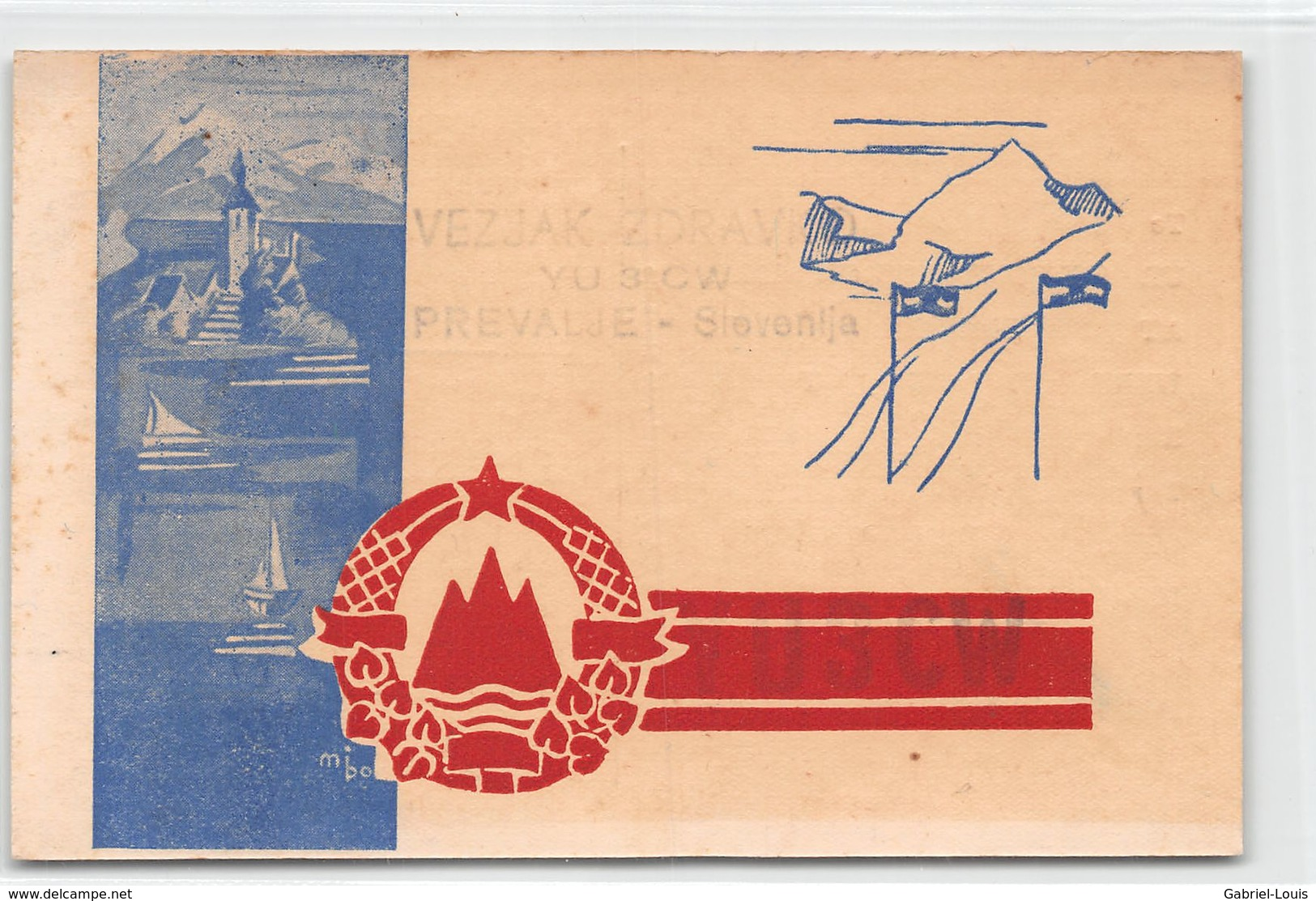 QSL Cards - YU3CW.- YU 3 CW - Yugoslavia  - Prevalje - Slovenija - Vezjak Zdravko - Radio Amatoriale