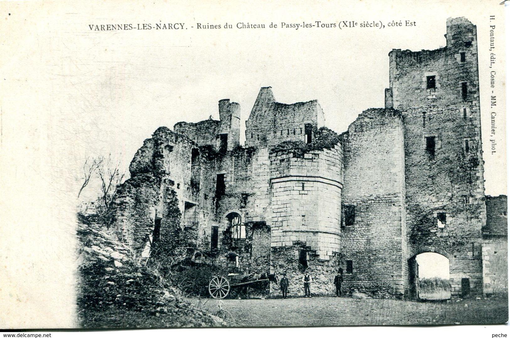 N°78305 -cpa Varennes Les Narcy -ruines Du Château De Passy Les Tours- - France