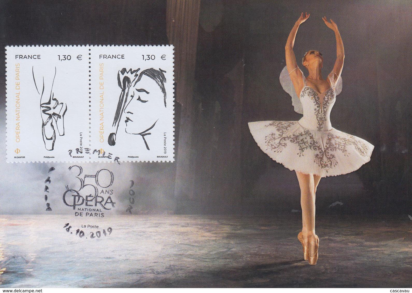 Carte  Maximum  1er   Jour    FRANCE    Opéra  National  De   PARIS    2019 - 2010-...