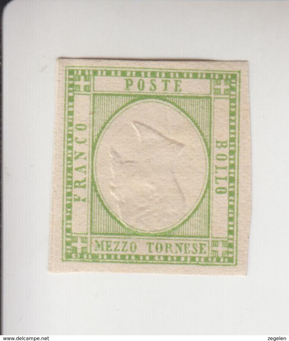 Italië Michel-nr 1a Herdruk Met Omgekeerd Middenstuk * - 1861-78 Victor Emmanuel II.