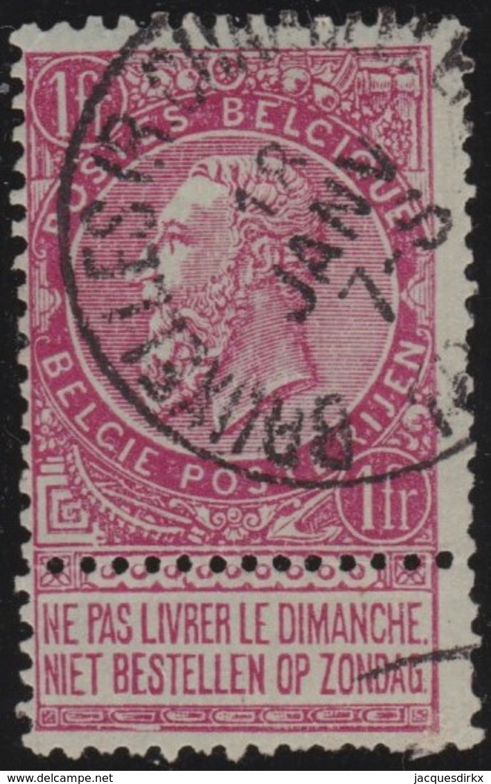 Belgie     .    OBP        .    64      .       O      .        Gebruikt  .   /   .  Oblitéré - 1893-1900 Schmaler Bart