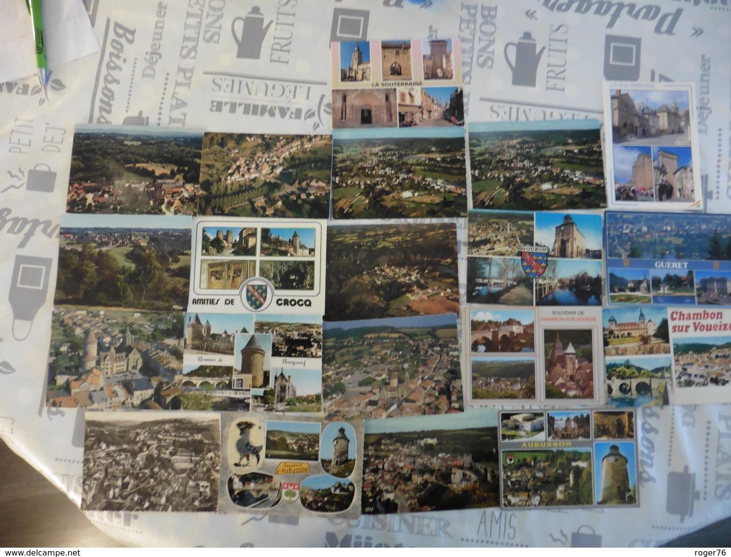 LOT  DE  19  CARTES  POSTALES  DE LA  CREUSE - Cartes Postales