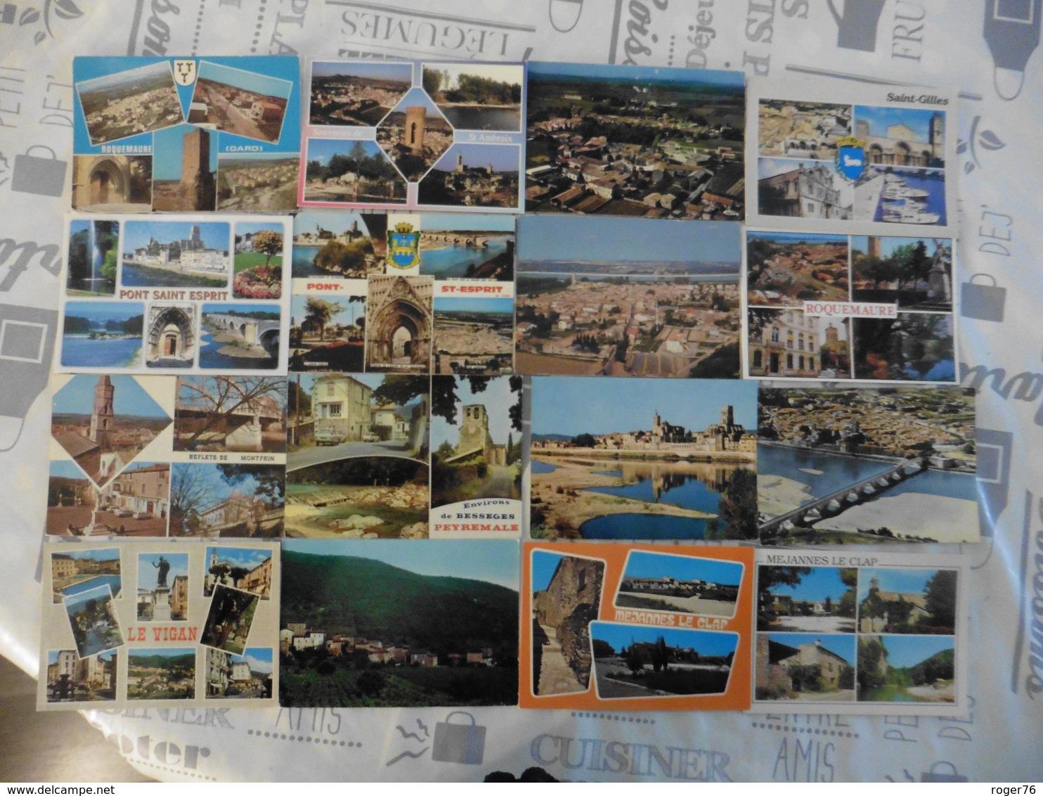 LOT  DE   62   CARTES  POSTALES  DU  GARD - 5 - 99 Cartes
