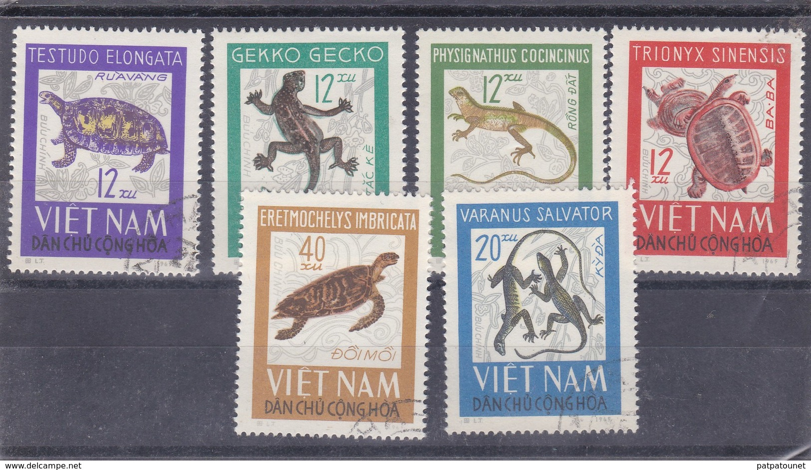 Viet Nam YV 488/3 1965 O Reptiles - Reptiles & Batraciens