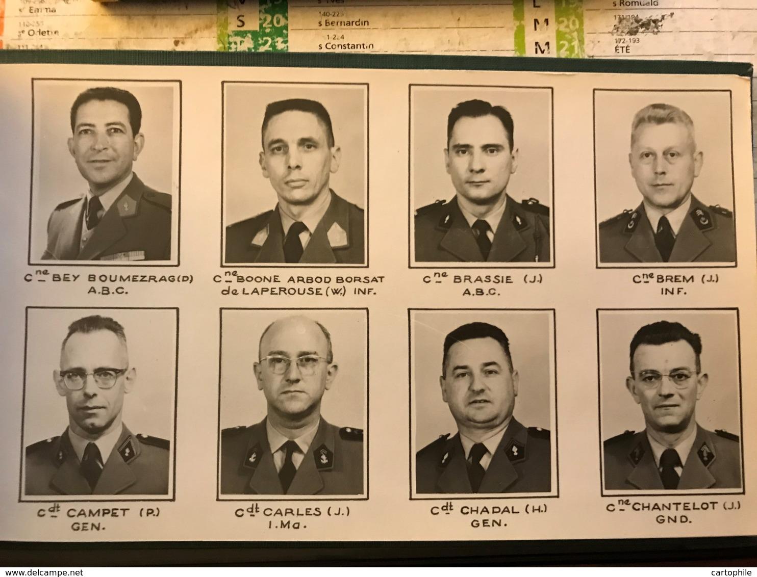 Rare Trombinoscope Des 110 Officiers De L'Ecole Supérieure De Guerre - Promo 1960 - Etat Major - Capitaine Et Commandant - Documents
